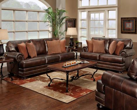 Newport Chesterfield Leather Sofa And Love Couch W Nail