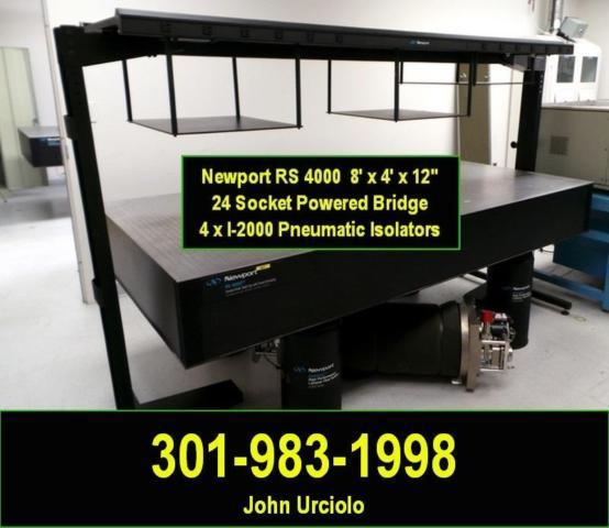 * * * * * NEWPORT RS4000 OPTICAL TABLE with I-2000