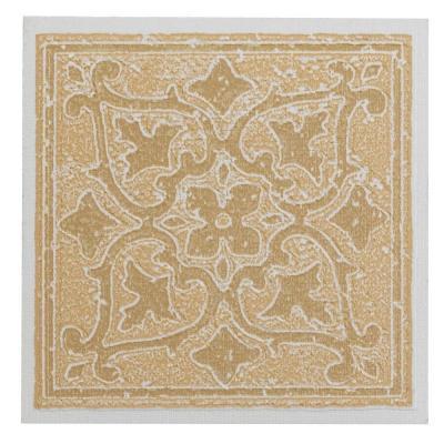 Nexus Wall Tiles Vinyl 4 in. x 4 in. Self-Sticking Sandstone Accent Motif WallDecorative Wall Tile Tile 27 Tiles Per Box