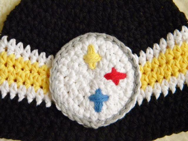 Nfl Handmade Pittsburgh Steelers Football Team Crochet Hat
