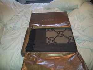 NIB Authentic Brown Gucci Cashmere/wool Blanket Retail