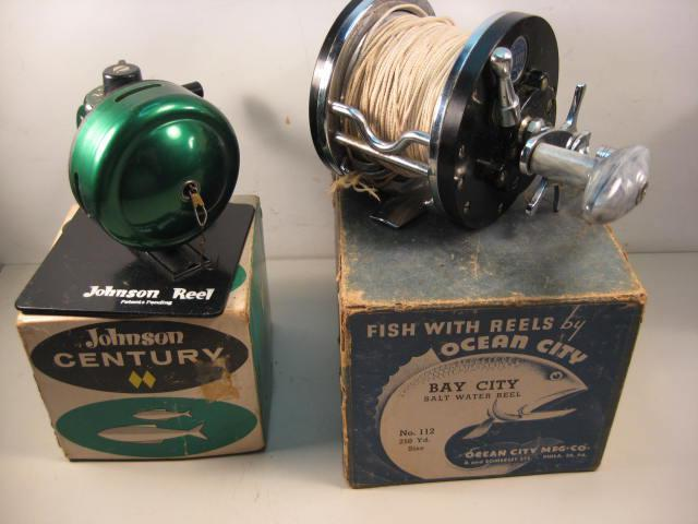 Nib vintage fishing reel johnson century 100a for sale in for Vintage fishing reels for sale