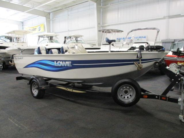 Nice 2003 lowe fm 175 sea nymph aluminum fishing boat Aluminum boat and motor packages