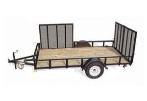 NICE 2007 7X12 UTILITY/ATV TRAILER FOR SALE GET IT