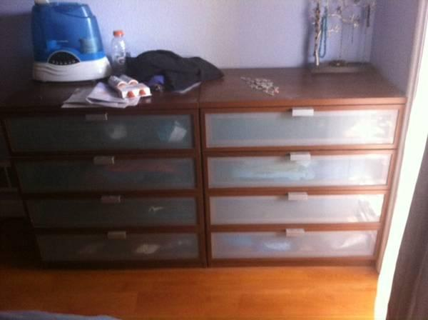 Nice cheap hopen bedroom set wood and frosted glass for Nice cheap bedroom sets