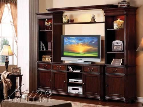 Nice Entertainment Center-Metal & Tempered Glass