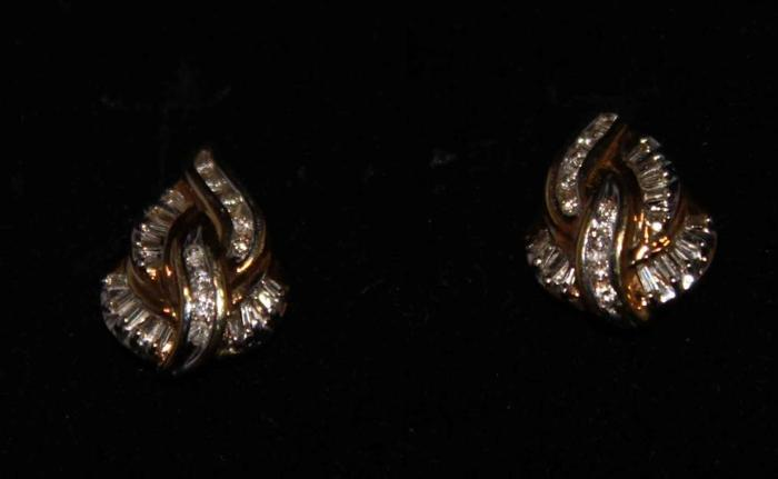 Nice Gold Diamond Earrings Appraised on 4/30/2015 For