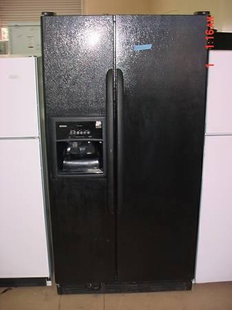 Nice Kenmore Refrigerator Black Side By Side Dispenser Ice