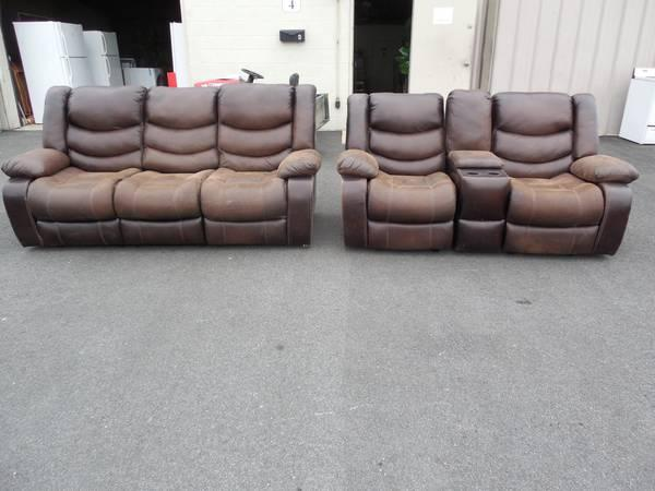 Nice Leather All Reclining Living Room Set For Sale In Manor Delaware