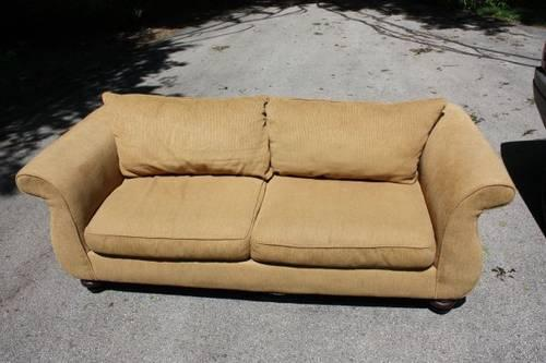 Nice Leather Like Naugahyde Black Couch Used Like New