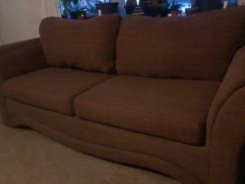 Marvelous Nice Matching Brown Couch And Loveseat Set Made By Mactavish Unemploymentrelief Wooden Chair Designs For Living Room Unemploymentrelieforg
