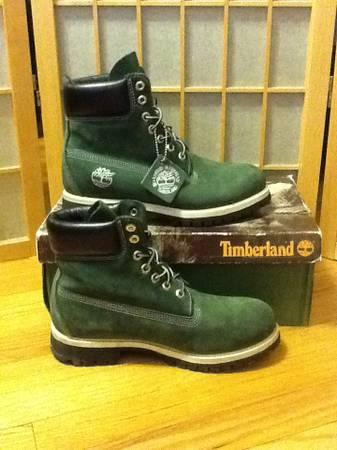 0361b9874f8de Nice Men's Green Timberland Boots Size 7.5 27019 w/ Box WORN ONCE ...