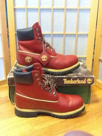 Dark Blue Timberlands Boots