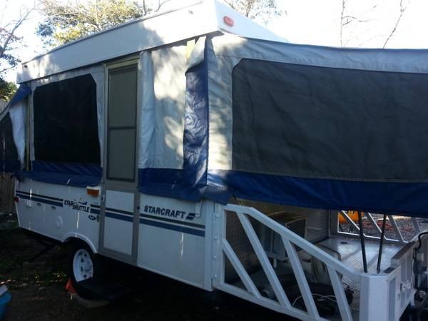 nice pop up camper toy hauler - $4950