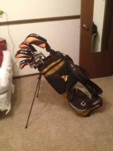 Nice Ram golf clubs and callaway bag - $100 topeka