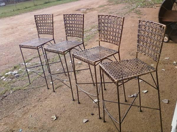 Miraculous Wrought Iron Bar Stools From Bombay Company Classifieds Customarchery Wood Chair Design Ideas Customarcherynet