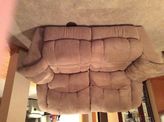 Nice sand color lazy boy couch and love seat 225.00