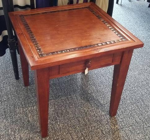 Nice Single Drawer Wood End Table 25