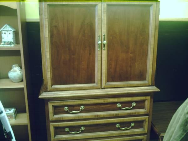 NICE SOLID CHERRY ARMOIRE WARDROBE BY THOMASVILLE