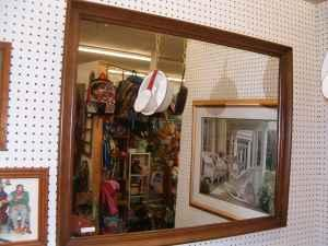 nice wall mirror with wood frame large 36 x 28 newburgh in