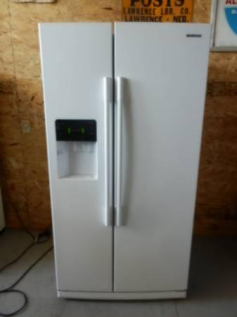 Nice White Gloss Samsung Side By Side Refrigerator For