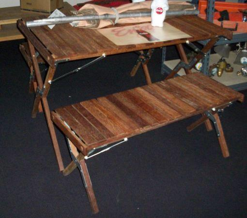 Nice Wood Traveling Picnic Table Amp Bench Set For Sale In