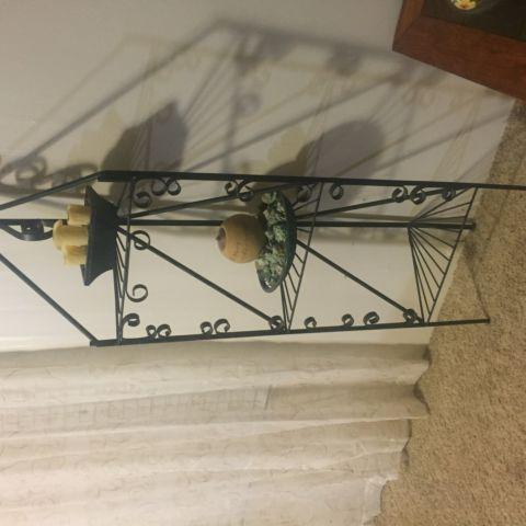Nice Wrought Iron plant stand or collectibles stanf