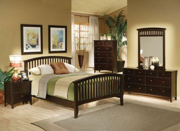 nice mission style bedroom set queen 6 pc new in