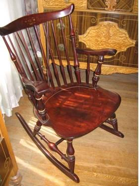 Nichols Stone Brace Back Windsor Rocking Chair 1940s For Sale In Beaver Pennsylvania