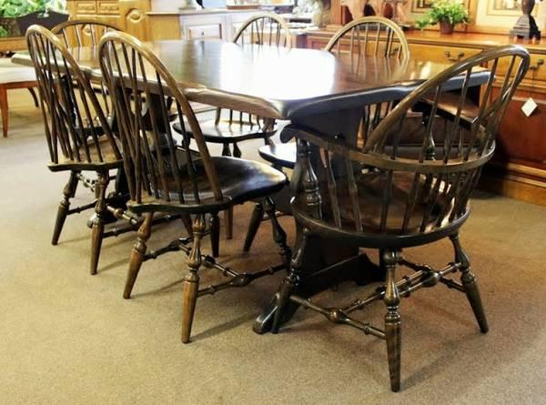 Nichols Amp Stone Farm Style Dining Set Table Amp 6 Chairs