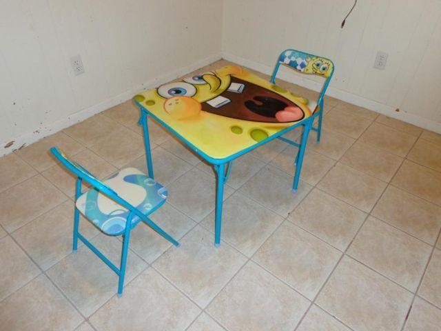 Nickelodeon Spongebob Activity Table And Chair Set For