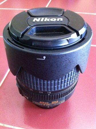 Nikon DX AF-S 18-105mm lens - $275 or best offer - $275