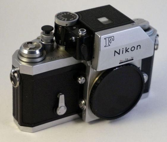 Nikon F 35mm film SLR Body Only, FTN Photomic Finder, Chrome