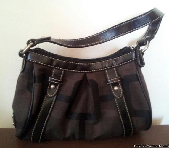 Nine West Dark Brown Brown Handbag Baguette New Without