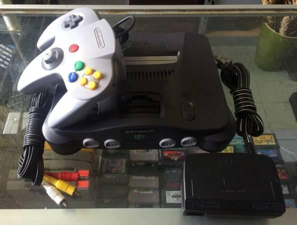 NINTENDO 64 N64 System Bundle with Controller Cords Complete