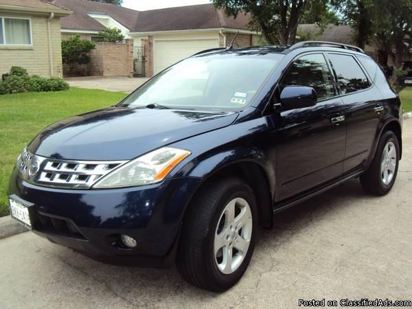 nissan murano suv low miles 78 000 clean title by owner for sale in houston texas classified. Black Bedroom Furniture Sets. Home Design Ideas