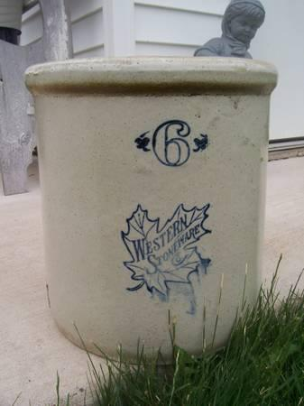 No 6 Western Stoneware Co Crock For Sale In Kickapoo