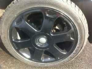 Nokian snow tires on black Audi S4 wheels - $550 New Britain