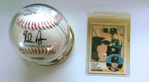 Nolan Ryan Commemorative Baseball/ Nolan Ryan Houston