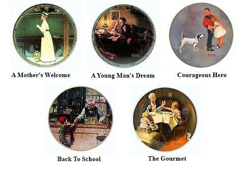 Norman Rockwell Plates  Figurines - $10