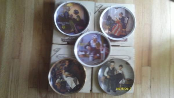 norman rockwell plates with certificates