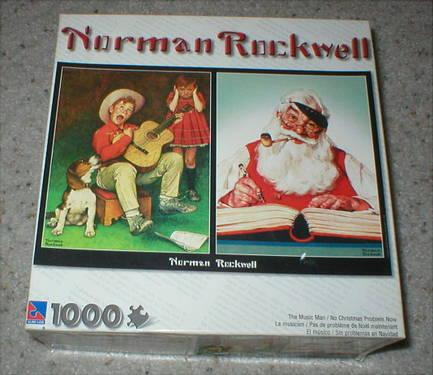 Norman Rockwell Puzzle - The Music Man  No Christmas Problem Now