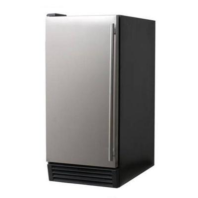 Norpole 44 lb. Commercial Ice Maker in Stainless Steel