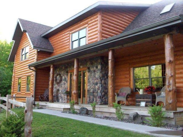 northwoods log vacation home for rent shell lake wi