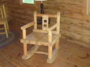 Magnificent Northwoods Pressure Washed Pine Rocking Chairs Bear Cut Machost Co Dining Chair Design Ideas Machostcouk