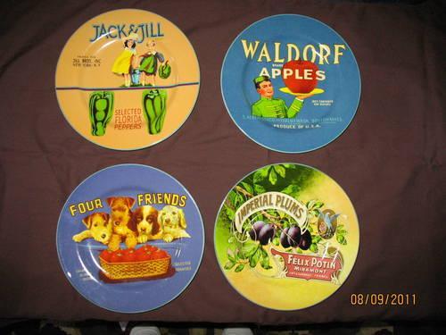 NOSTALGIC! Oneida/Sakura Vintage Labels Stoneware Dishes, Canisters+ ...