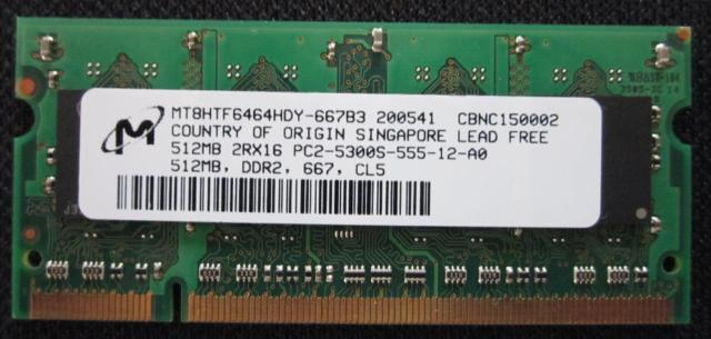 Notebook Computer Memory PC2-5300, PC2-4200