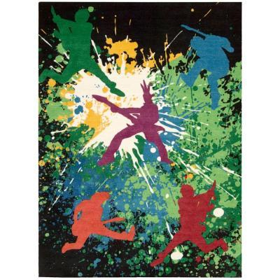 Nourison Altered States Rock Star Multicolor 8 ft. x 10 ft. Area Rug