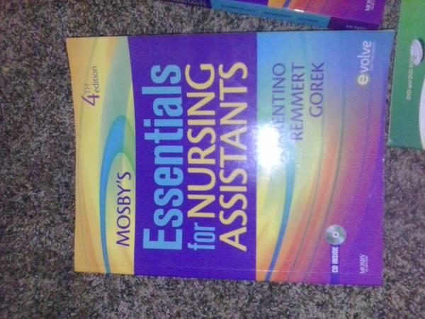 Nursing Assistants Textbook, workbook,and video disc