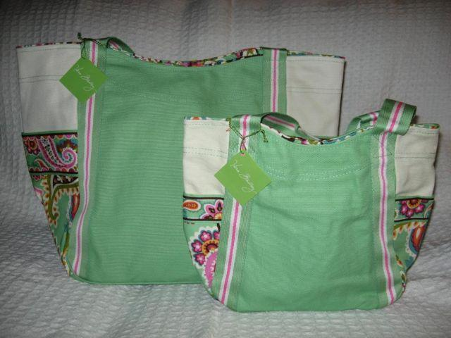 NWT Vera Bradley Small & Large Set of COLORBLOCK TOTES